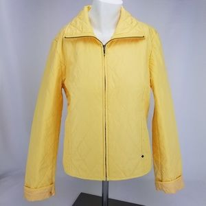 Black Rivet Womens Size Small Yellow Quilted Sprin